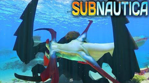 Video - Subnautica - SANDWORM ! The Reaper Leviathan Eater
