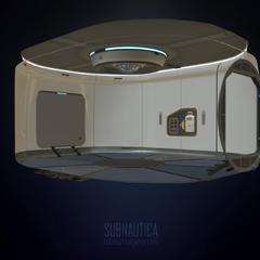 Modelo interior de la sala escáner en <a rel=