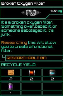 Broken Oxygen Filter