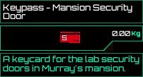 Keypass Mansion Security Door