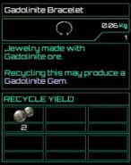 Gadolinite Bracelet