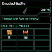 Emptied Bottle