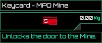Keycard MPO Mine