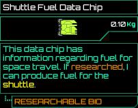 Shuttle Fuel Data Chip