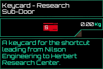 Keycard Research Subdoor