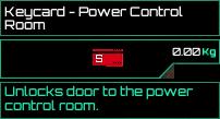 Keycard Power Control Room