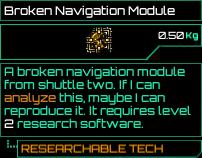 Broken Navigation Module