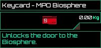 Keycard MPO Biosphere