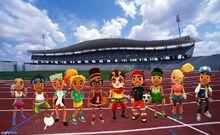Olympics Background Noon, Edison, Kim, Carmen, Fresh, Sun, Roberto, Jay, Tasha, and Tony