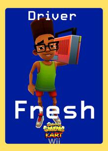 Subway Surfers Kart Wii Fresh Trading Card