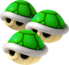 Triple Green Shell - Mario Kart Wii