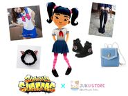 Harumi's Sailor Moon Outfit