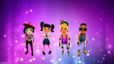 Coco, Harumi, Nick, and Tony