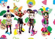 Clown Background Coco, Frank, Jaro, and Zombie Jake