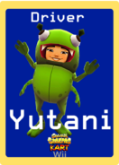 Subway Surfers Kart Wii Yutani Trading Card