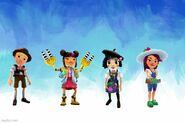 Creative Background Hugo, Yutani, Coco, and Jolien