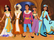Arabian Nights Prince K, Jasmine, Amira, Salma, and Kareem