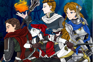Manga world Of Fantasy Coco,Freya, Hugo and Jaro