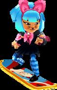 Harumi Surfing On The Kitty Board