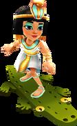 Jasmine surfing on the Croc Board
