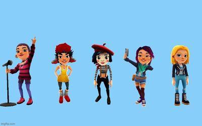 Nina, Alex, Coco, Jolien, and Freya