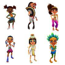 Lauren, Rosa, Amira, Noon, Jasmine, and Carmen