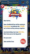 Subway Surfers 5 Year Message