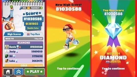 subway surf best score ever