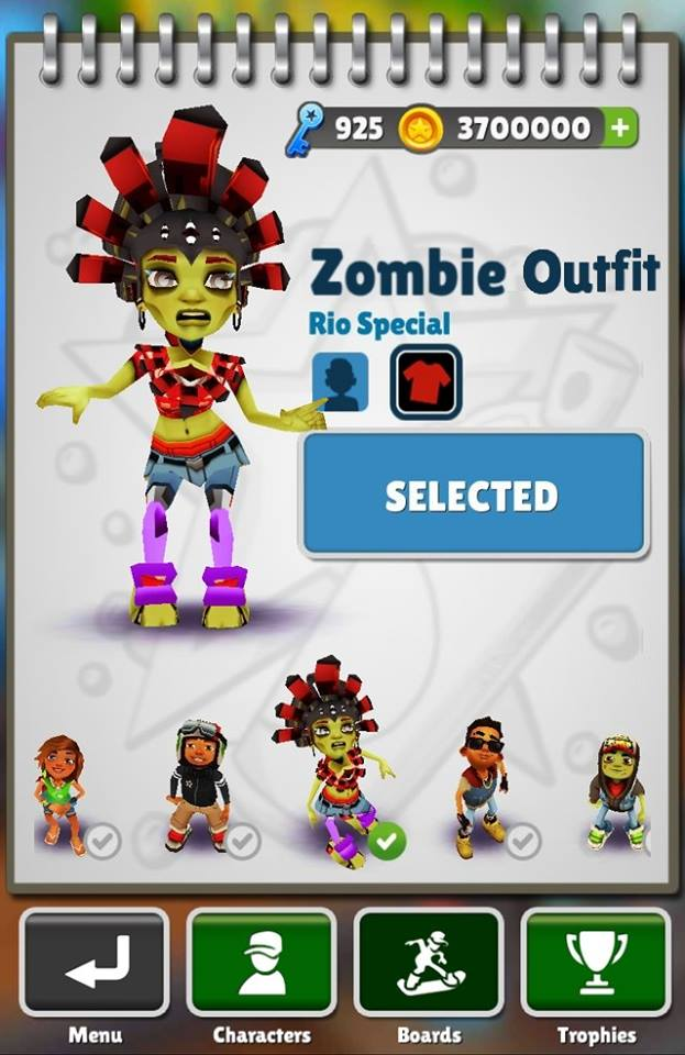 Zombie Outfit - Rio Special