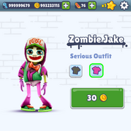 Zombie Jake Outfit Bug