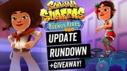 WHAT'S NEW? - Buenos Aires Update GIVEAWAY! Subway Surfers Update Rundown
