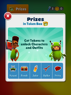 Prizes in Token Box