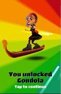 Unlocking gondola