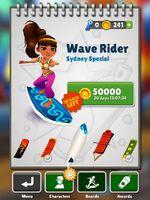 Amira on wave rider