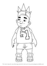 How-to-draw-King-from-Subway-Surfers-step-0