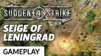 The Seige of Leningrad - Sudden Strike 4 Gameplay