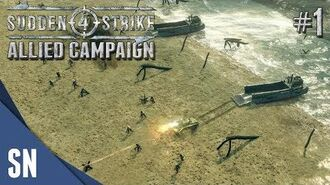 Battle 1 Operation Overlord - Sudden Strike 4 - Allied Campaign Gameplay