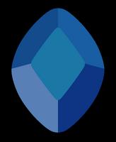 Blue Diamond Gem by Lenhi