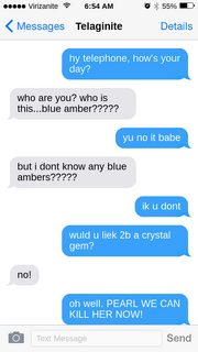 Why blue amber texted they could kill telaginite to telaginite, the world may never know'