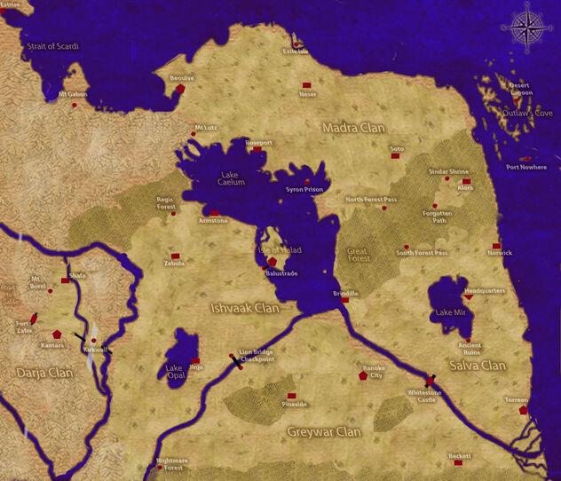 New Armes Kingdom Map
