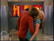 Trevor kissing Maddie