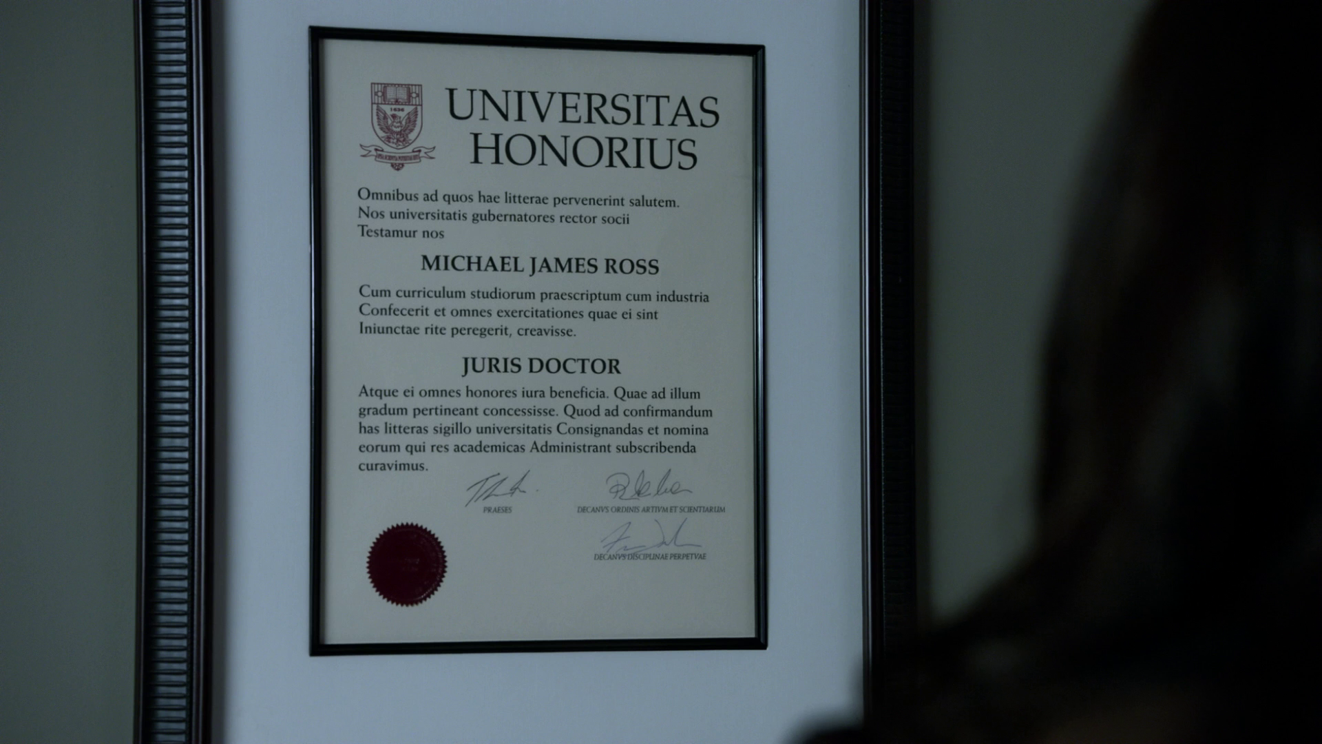 image mike s harvard diploma x png suits wiki fandom  mike s harvard diploma 3x01 png