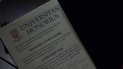 Mike Ross' Harvard Diploma (Lola's Gift)