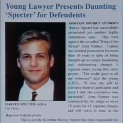Ficha de Harvey na época em que trabalhou com Cameron.