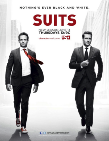 Suits S02 Lrg Promo Logo Red Black