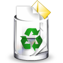 Crystal Clear filesystem trashcan full