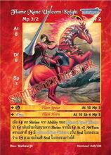 Flame Mane Unicorn Knight