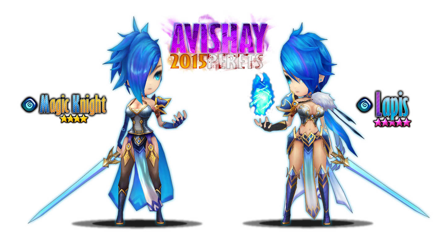 image summoners war lapis magic knight art by avishay perets