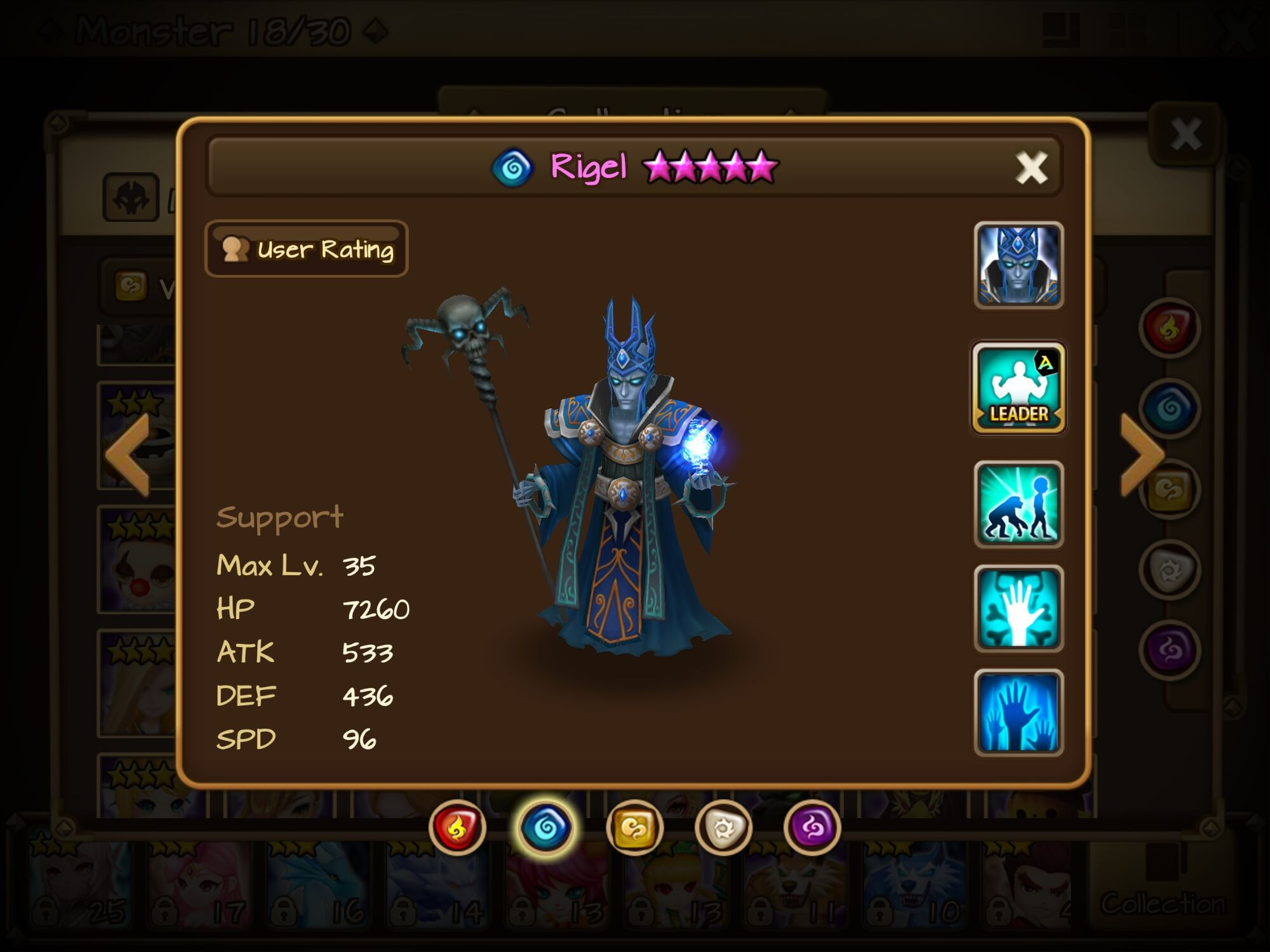 Lich (Water) - Rigel/Gallery and trivia | Summoners War Sky
