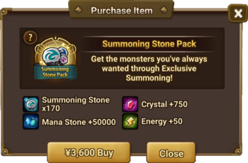 Summoning Stone Pack